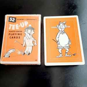 VTG TEE-UP PLAYING CARDS